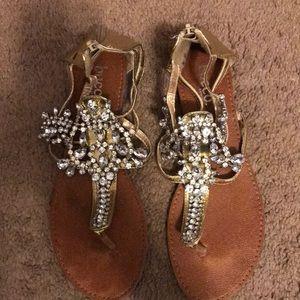Glitzy rhinestone sandals